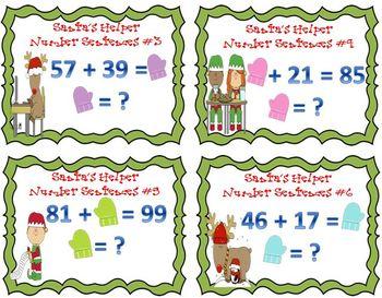 Santa's Helper Number Sentences Freebie