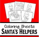 Santa's Helpers Christmas Coloring Sheets