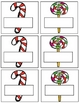 Santa's Helpers Spanish Color Words and Number Words Pocket Chart Game
