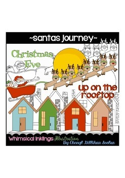 Santas Journey Clipart Collection