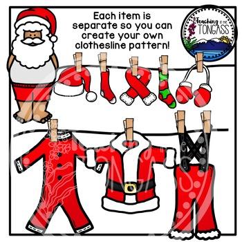 Santa Clothes (Christmas Clipart)
