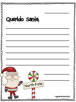 Santa's Letter Craftivity English & Spanish