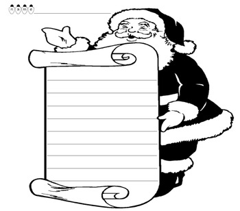 Santa's List Writing Template
