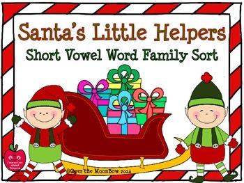 Santa's Little Helpers Short Vowel Word Family Activity Pack