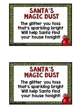 Santa's Magic Dust Poem Cards