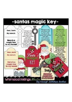 Santas Magic Key Clipart Collection