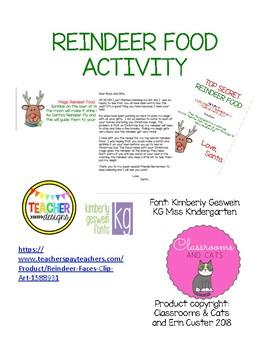 Santa's Magic Reindeer Food Activity