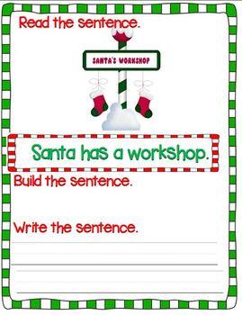 Santa's Mixed-Up Sentences (A Sentence Writing Unit)