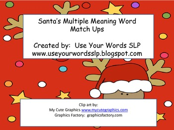 Santa's Multiple Meaning Match Up