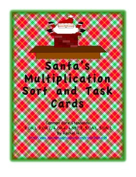 Santa's Multiplication Game and Task Cards