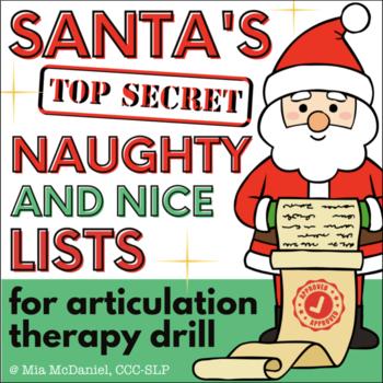 Articulation Activity for Christmas: Santa's Naughty & Nice Lists