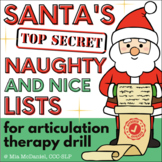 Articulation Activity for Christmas: Santa's Naughty & Nice Lists