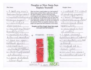 Santa's Naughty and Nice List - Explanatory Item