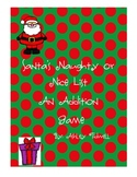 Santa's Naughty or Nice List: An Addition Game - Great for