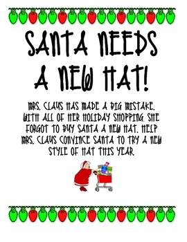 Santa's New Hat Persuasive Writing Packet with Graphic Organizer
