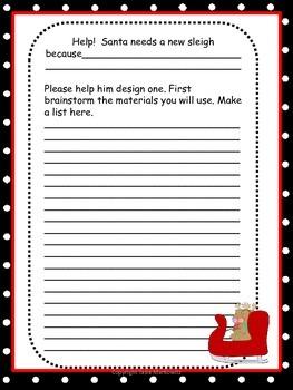 Santa's New Sleigh A Cross-Curricular Writing & Science Project