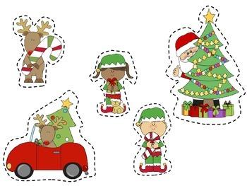 Santa's Outdoor Snow Fun Craftivity