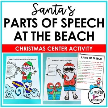 Santa's Parts of Speech at the Beach!