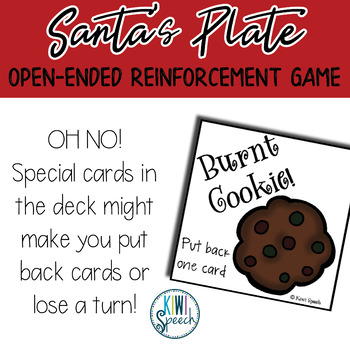 Santa's Plate Builder: Open Ended Game: Great for Speech & Language