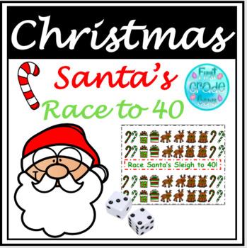 Santa's Race To 40! Freebie!