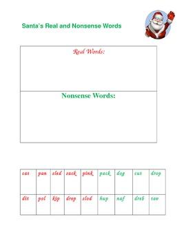 Santa's Real & Nonsense Words