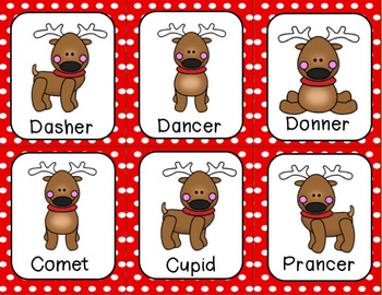 Santa's Reindeer ABC Order and Craftivity