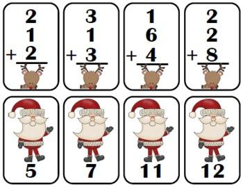 Santa's Reindeer {Adding 3 Numbers}
