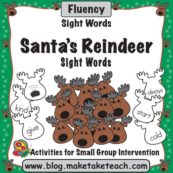 Sight Words - Santa's Reindeer