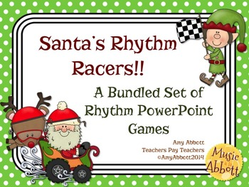 Santa's Rhythm Racers: PowerPoint Game Bundle