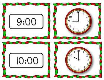 Santa's Schedule (Telling Time to the Hour)
