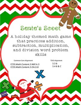 Santa's Scoot - Christmas Themed Word Problems