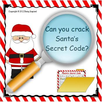 Santa\'s Secret Code - Christmas Literacy Center by Being Inspired