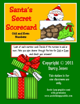 Santa's Secret Scorecard - Odd and Even numbers