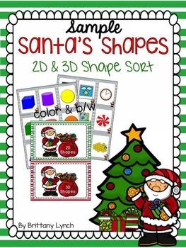 Santa's Shapes (2D & 3D Shape Sort)