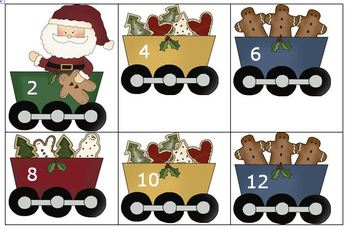 Santa's Skip Counting Train Center by 2s and 5s