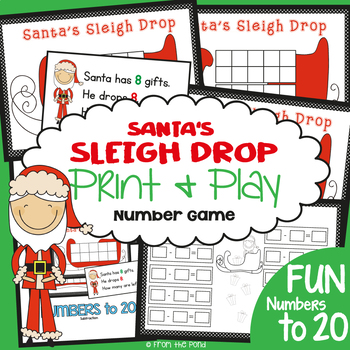 Christmas Math Game {Subtraction with Ten Frame}