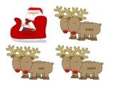 Santa's Sleigh and Reindeer Long Vowel Sort