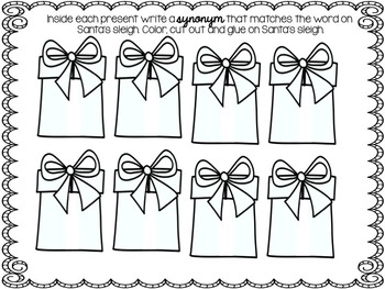 Santa's Sleigh of Synonyms: A Christmas Review of Synonyms