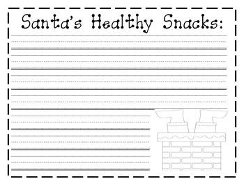 Santa's  Snacks Writing Paper
