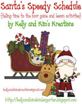 Santa's Speedy Schedule! {telling time to the hour game and lesson activities}