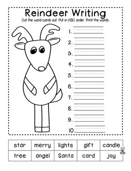 Santa's Spelling Workshop - Christmas Spelling Worksheets