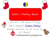 Santa's Stocking Blends Articulation Activity for Speech Therapy