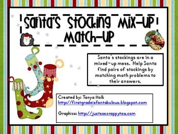 Santa's Stocking Mix-Up Match-Up