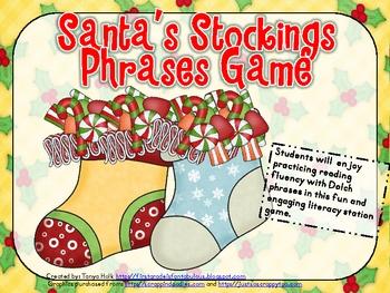 Santa's Stockings Dolch Phrases Game
