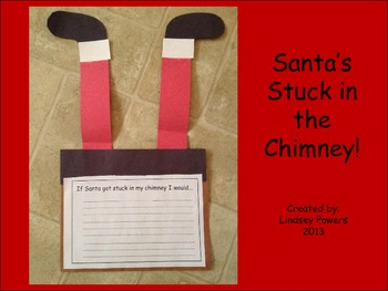 santas stuck in the chimney