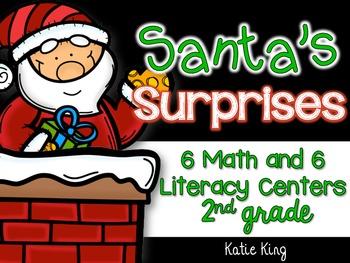 Santa's Surprises: 6 Math AND 6 ELA Centers