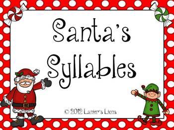 Santa's Syllables 123