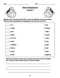 Santas' Synonyms - Vocabulary Expansion Activity