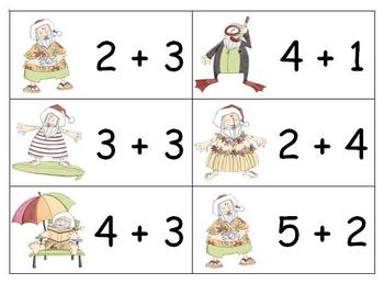 Santa's Vacation - Addition Math Center