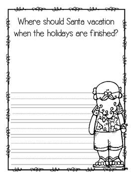 Santa's Vacation Writing Prompt